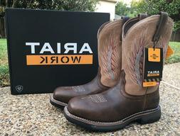 NEW Men ARIAT Brown Leather WORKHOG Mesteno II Composite Toe