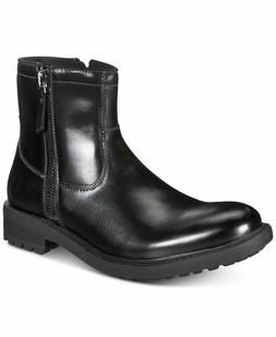 New Unlisted by Kenneth Cole Men C-Roam Zip-Up Black Boots S