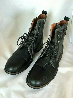 New Polar Fox Men's 10.5 Gray Black Combat Boots Lace Up Sid