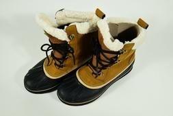 NEW Crocs Men's AllCast II Snow Boot Wheat/Black Size  13 M