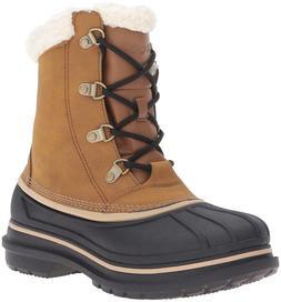 NEW Crocs Men's AllCast II Snow Boot Wheat/Black Size  12 M