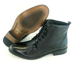 New Men's Black Ferro Aldo Dress High Top Boots Cap Toe Leat