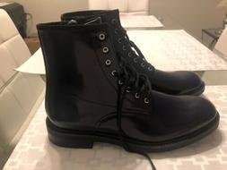 New Men's Calvin Klein Keeler Box Leather Combat Boot Zipper