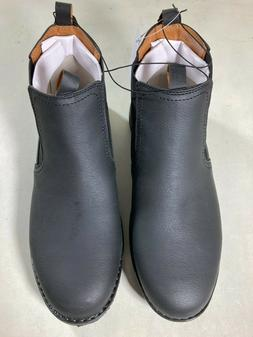 NEW!! Izod Men's Lucas Pull-On Chukka Boots Black