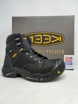 """NEW! Keen Men's Mt Vernon 6"""" Waterproof Steel Toe Boot Black"""