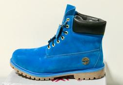 * NEW *TIMBERLAND MEN'S ROYAL BLUE  BOOTS FREE SHIPPING BRAN