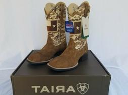 New Men's Ariat Sport Patriot Western Boots Texas Flag