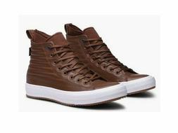 NEW Men's Sz 10 Converse CTAS WP Boot Hi Brown Leather Shoes