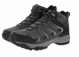 New Khombu Men's Tyler Hiking Boots Waterproof Black Gray Le