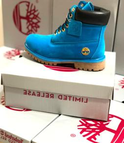 TIMBERLAND NEW MEN'S WATERPROOF BOOTS ROYAL BLUE PREMIUM 6 I