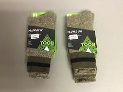 New Men's Wigwam Boot Merino Wool Socks 2 Pair Size XL Mul