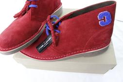 New Clarks Mens Limited Edition Varsity Suede Bushacres Red