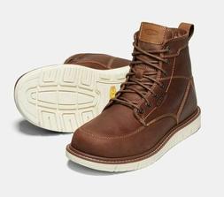 "New KEEN Mens San Jose 6"" Soft Toe Waterproof Brown Leather"
