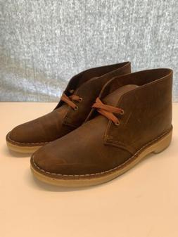 New CLARKS Mens sz 8.5 M Bushacre 2 Chukka Boots Beeswax Bro