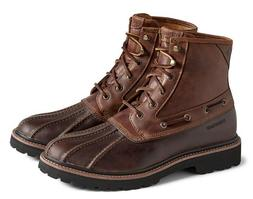 New Sperry Top-Sider Men's Gold Cup Lug Duck Boot Dark Brown