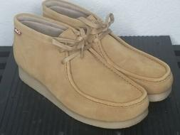 New Clarks Stinson Hi Chukka Boot Wheat Suede Sz 10.5 M