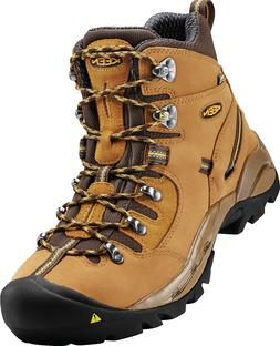 """New KEEN UTILITY Mens PITTSBURGH 6"""" Steel Toe Wheat Leather"""