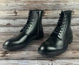 Calvin Klein Keeler Men's Black Combat Fashion Side-Zip Bo