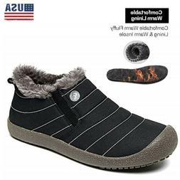 New Winter Outdoor Men's Fur Lined Snow Boots Fur Lined Warm