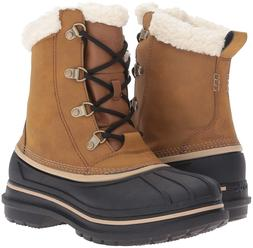 NIB! Crocs Men's AllCast II Snow Boot Wheat/Black  SIZE 8