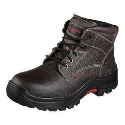NIB, Skechers Men's Burgin-Tarlac Brown Leather Steel Toe EH