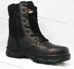 """NIB Men's Tactical Boots 8"""" Black Combat Military Work Shoes"""