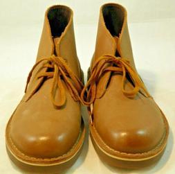 NWOB Clarks Boots Bushacre 2 Men's Chukka Tan Brown Leather