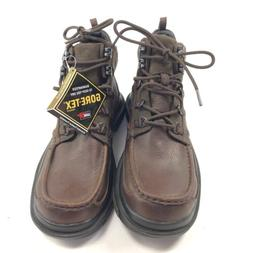 NWOB Mens 8 Clarks Ash Boots Goretex Brown Leather Hiking Wa