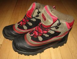 NWOT IZOD Adair Hiking Men's Boots Shoes 13M BLACK RED GRAY