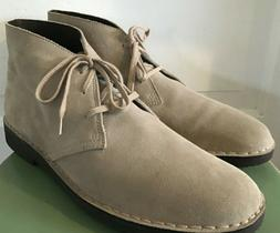 NWOT Men's Clarks Sand Suede Chukka Ankle Boots Size 12 M