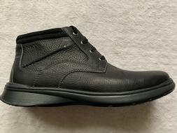 NWT CLARKS COTRELL RISE MEN'S BLACK CASUAL LIGHTWEIGHT BOOTS