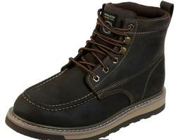 NWT Skechers Men's Work Relaxed Fit Boydton Boot Medium BROW
