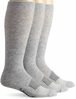 Pack of 3 Pairs Wrangler Men's Western Boot Socks Grey Large