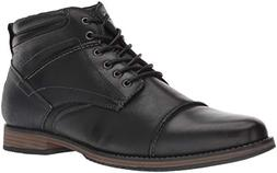 Steve Madden Men's Parkson Ankle Boot, Black Leather, 8 M US