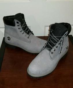 """Timberland Premium 6"""" Heritage Grey Waterproof Boots Men Siz"""
