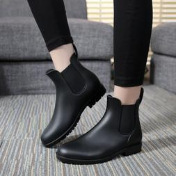 PDMOSY Rain <font><b>Boots</b></font> women Short Low Top Fa