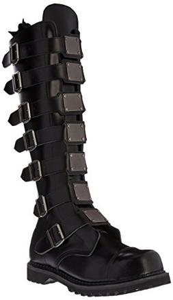 Pleaser Men's Reaper-30 Buckle Boot,Black Leather,9 M US
