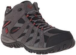 Columbia Men's Redmond MID Waterproof Hiking Boot, Black, Gy