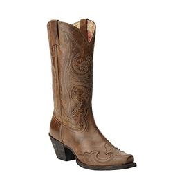 Women's Ariat Round Up D-Toe Wingtip Western Boot, Size 9.5