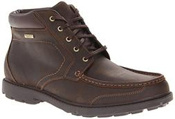 Rockport Men's Rugged Bucks Moc Boot Waterproof Dark Tan 13