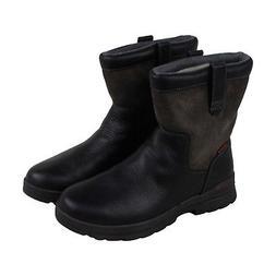 Clarks Ryerson Peak Mens Black Leather Casual Dress Slip On