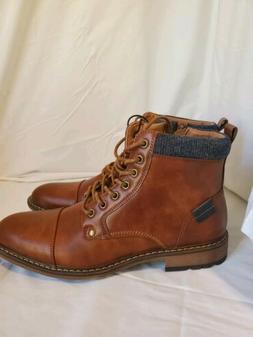 Steve Madden Mens Boots Brown Cognac Size 8.5