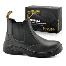 Safetoe Men Safety Shoes Work Boots Steel Toe Water Resistan