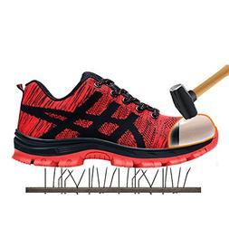 SaiCou Unisex Steel Toe Work Shoes Industrial&Construction S