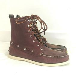 Sperry Top Sider Boots Tall Brown - Men's Size 10