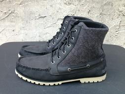 Sperry Top-Sider Carson Black Leather/Canvas Lace Up Boots M