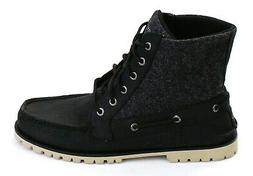 Sperry Top-Sider Carson Black Leather & Textile Casual Boots