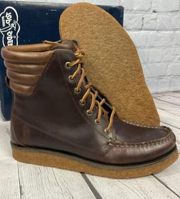 Sperry Top-Sider Men's A/O Crepe Boots Brown Leather Size