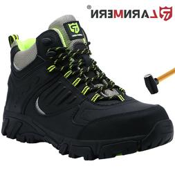 LARNMERN Steel Toe Boots for Mens Safe Comfortable Industria