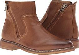 Steve Madden Men's TACKLED Ankle Boot, Dark tan, 10 M US